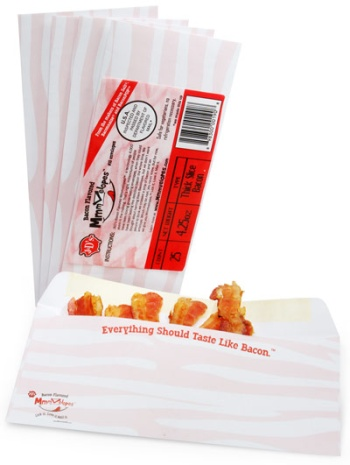 Bacon-flavored envelopes