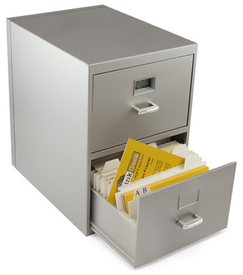 Mini business card cabinet