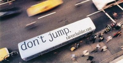 dont jump creative job ad