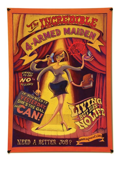 the incredible 4 armed maiden creative job ad