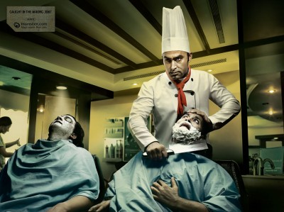 wrongjob barber creative job ad