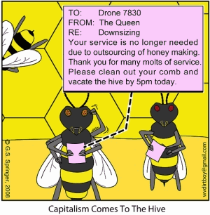 Bee layoffs at the hive