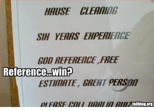 Reference Fail