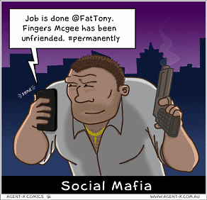Social mafia cartoon