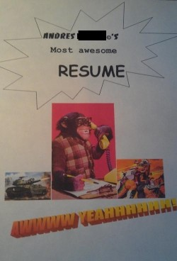insert brain here - Funny Resume
