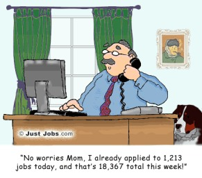 boss on phone job applications cartoon