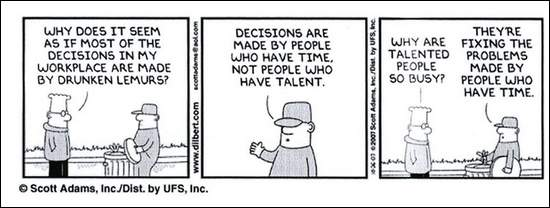 Dilbert comic that got man fired