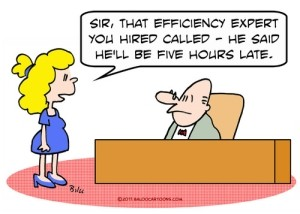 Efficiency expert cartoon