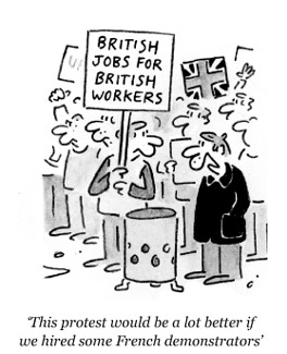Foreign jobs cartoon