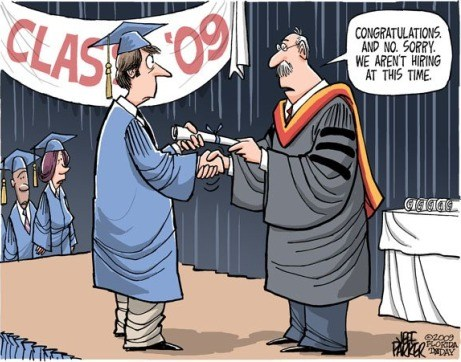 grad job search cartoon