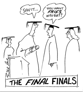 Graduate job cartoon