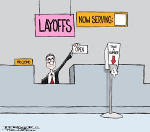 layoffs cartoon