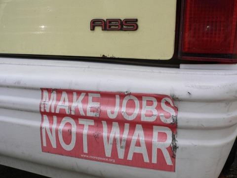 Make jobs, not war