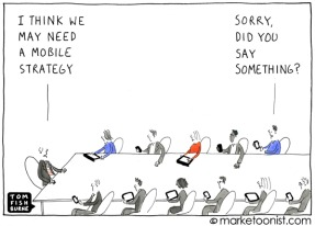 mobile strategy cartoon