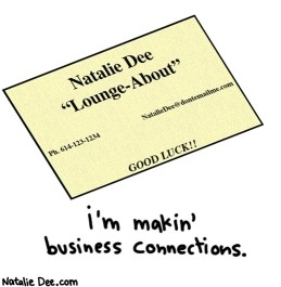 My new business card