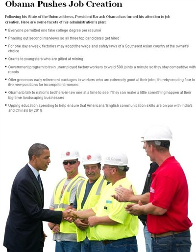 obama pushes job creation