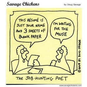 poet resume cartoon