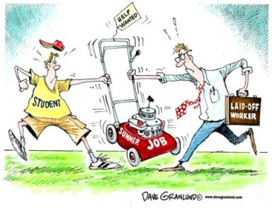 students vs laid off workers