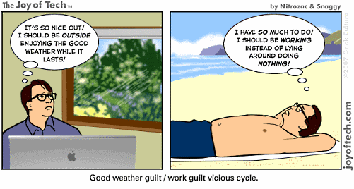 Summer Work Guilt Cartoon