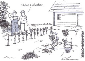 volunteer cartoon