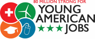 80 Million Strong for Young American Jobs logo