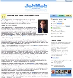 JobMob in 2007 Screenshot