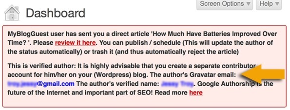 separate contributor account for verified authors