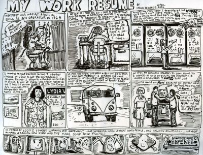 Lydia Velarde cartoon resume