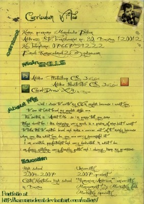 the 25 most creative designer resumes you ll see this year