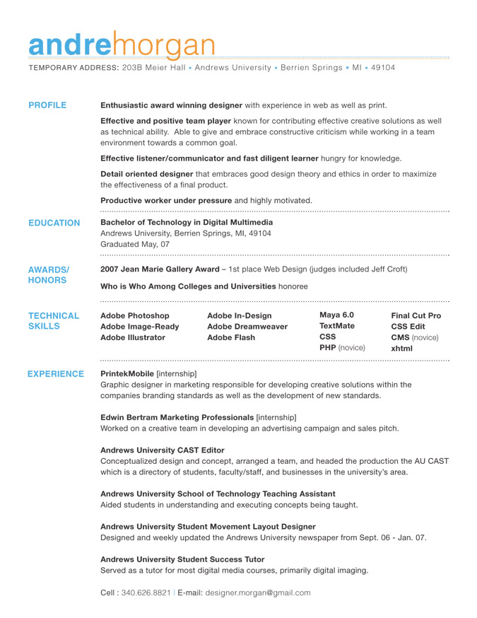 Good Font To Use For Resume Names