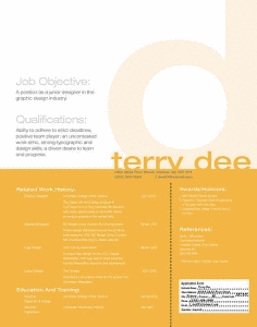 Terry Dee Resume