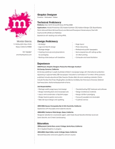Montia Garcia beautiful resume