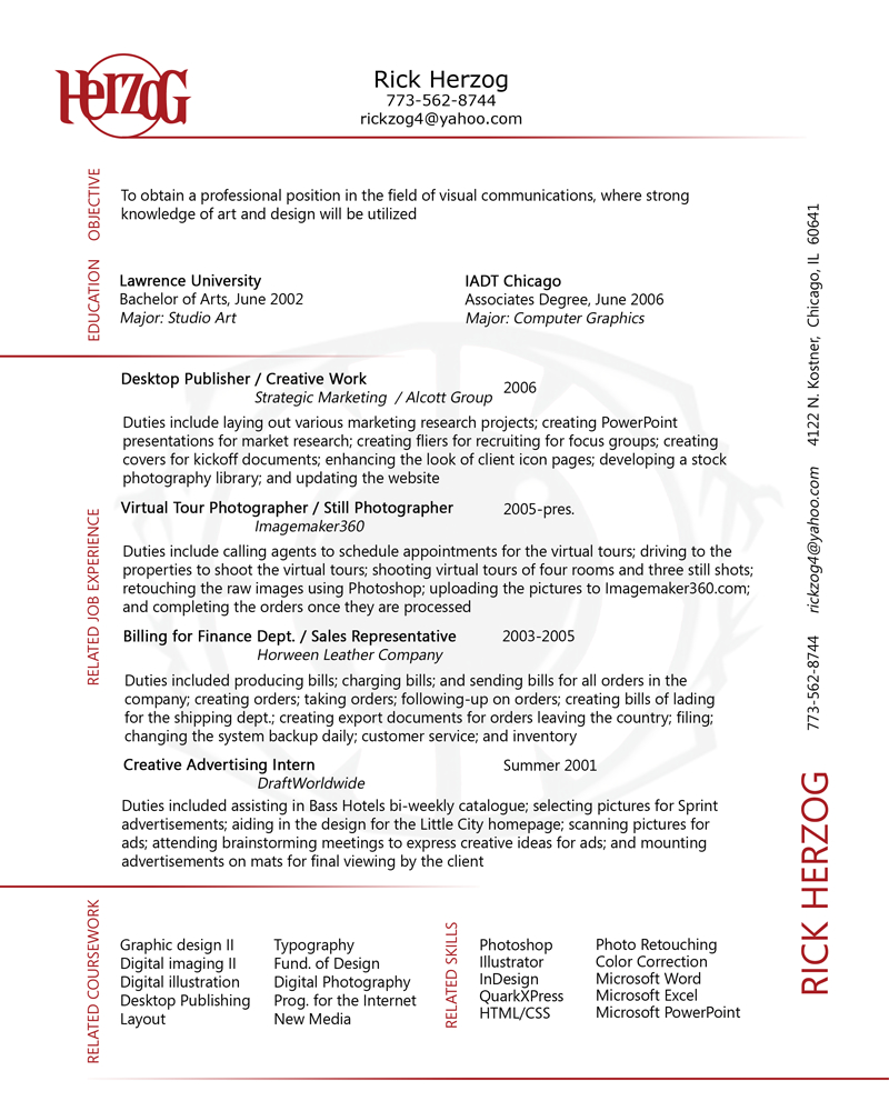 data visualization resume
