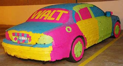 Sticky note car