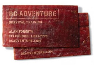 BCAdventureSurvivalTraining creative business card design