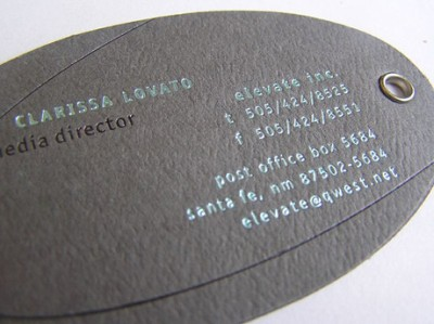 ClarissaLovato creative business card design