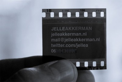 JelleAkkerman creative business card design