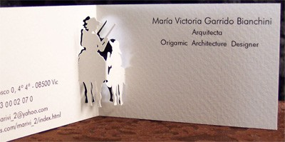 MariaVictoriaGarrido creative business card design