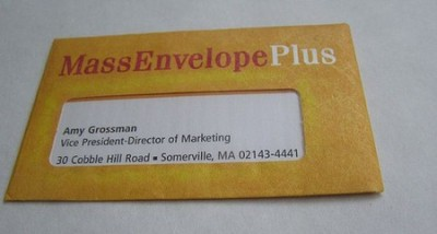 MassEnvelopePlus creative business card design
