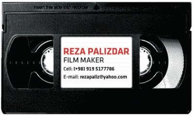 RezaPalizdar creative business card design