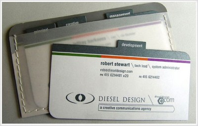 RobertStewart creative business card design