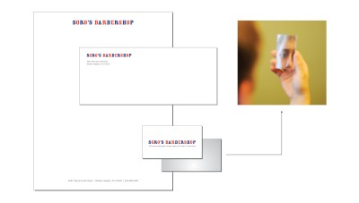 SgrosBarbershopMirror creative business card design