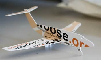 airplane creative business card design