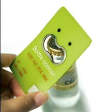 bottle opener creative business card design