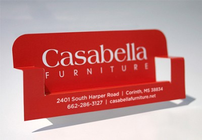 casabella furniture creative business card design