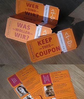 coupon creative business card design