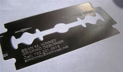 cutting edge creative business card design