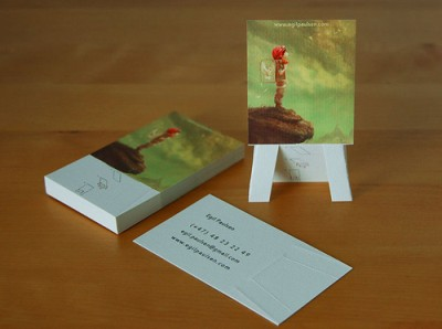 Easel business card design