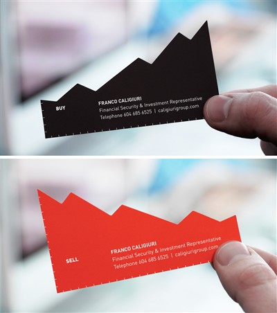franco caliguiri financial investment representative chart creative business card design