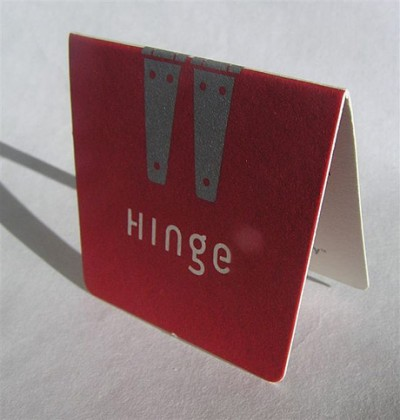 hinge creative business card design